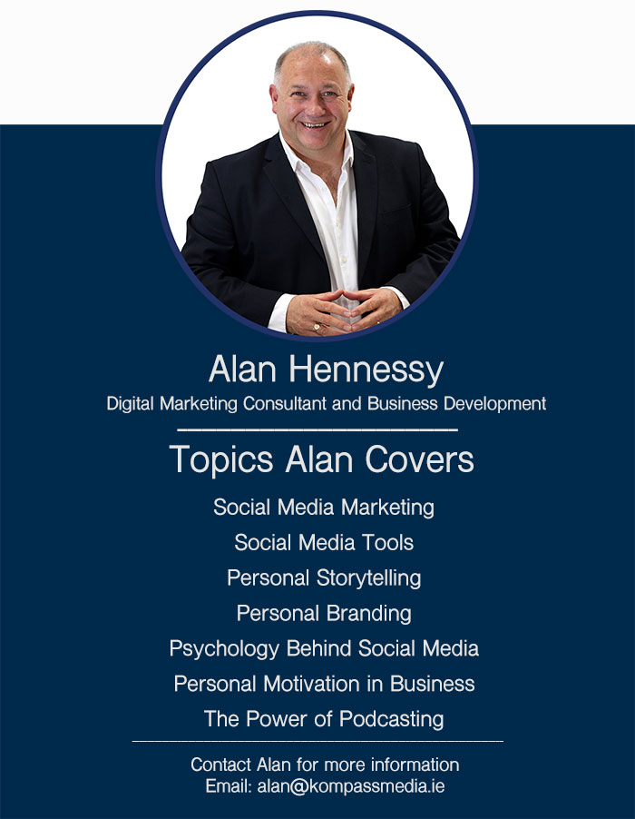 Alan Hennessy Digital Marketing Consultant and Business Development Kompass Media Dublin Wicklow Kildare Ireland