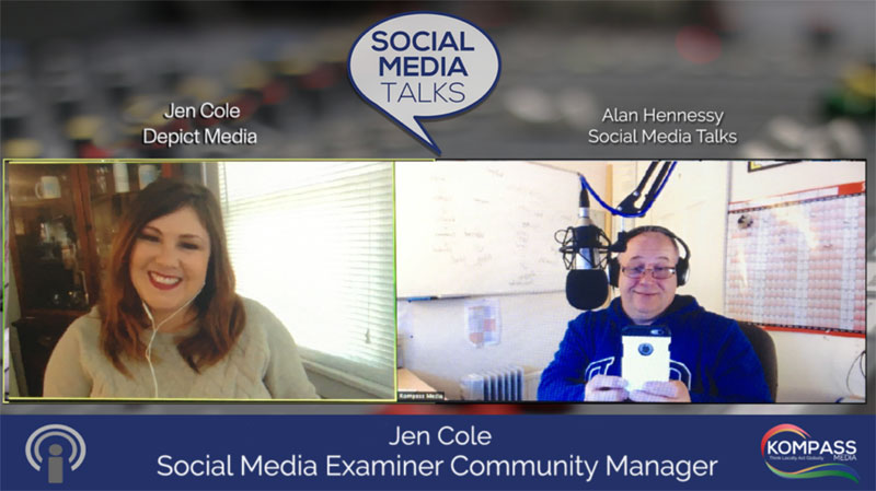 Social Media Talks Podcast with Alan Hennessy from Kompass Media Episode featuring Jen Cole