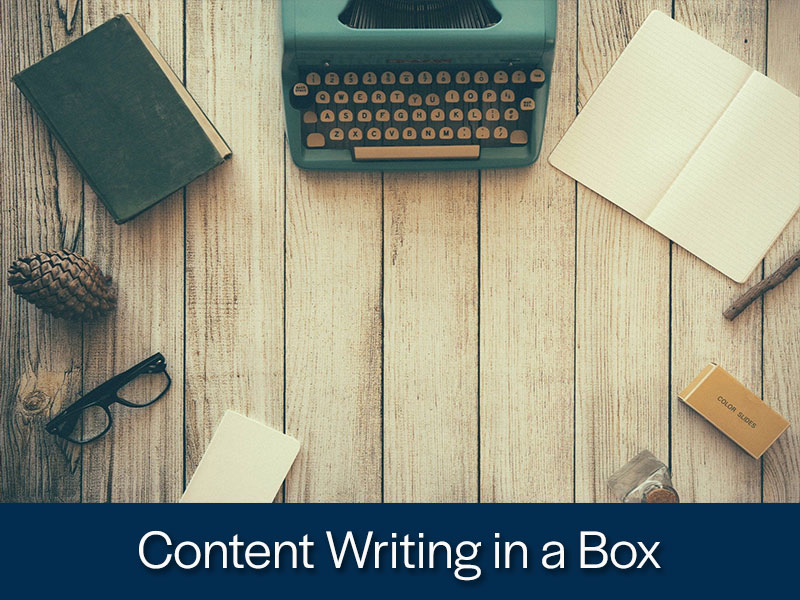 Content Writing in a Box from Kompass Media and Yvonne Reddin