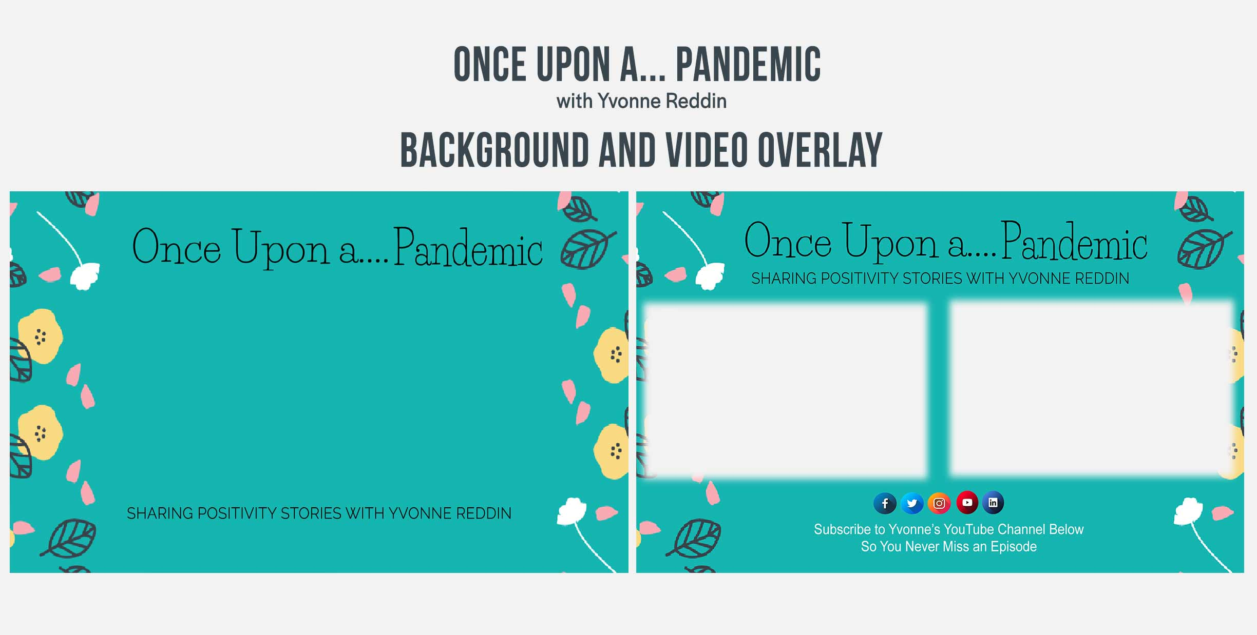 Once Upon a... Pandemic Graphic Design Backgrounds and Overlays from Kompass Media Dublin Ireland
