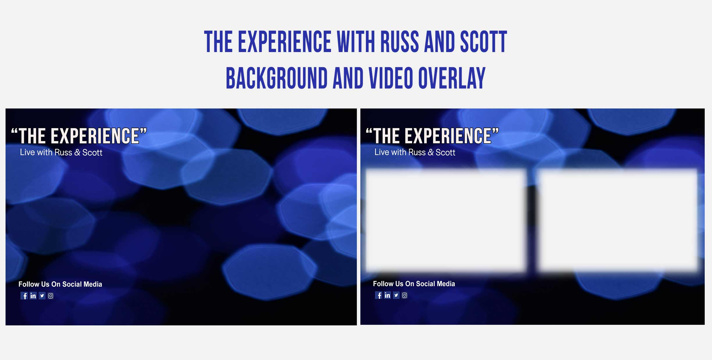 The Experience with Russ and Scott Graphic Design Backgrounds and Overlays from Kompass Media Dublin Ireland