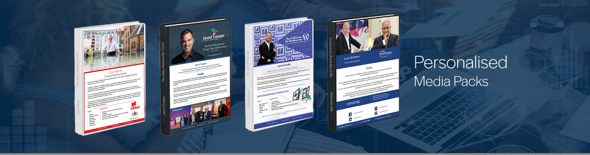 Personalised Media Packs created and developed by Kompass Media. Contact us for more information